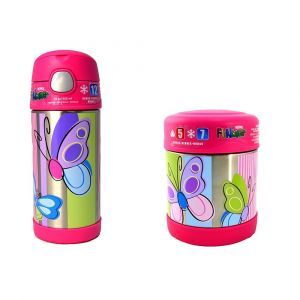 Thermos- Funtainer Bottle 355Ml,Butterfly + Funtainer Food Jar 290Ml, Butterfly