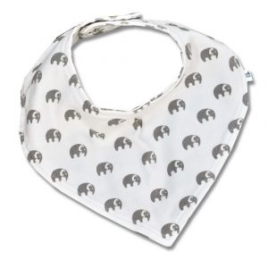 Tickle Tickle Elly Bandana Bib - Grey