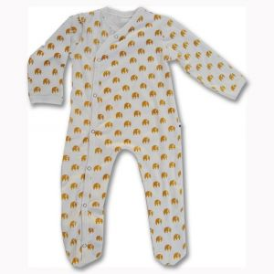 Tickle Tickle Little Ely Sleepsuit - Yellow