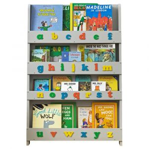 Tidy Books Bookcase Lowercase Alphabets - Pale Grey