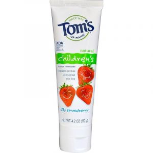 Toms of maine Fluoride Toothpaste, Silly Strawberry Children's Toothpaste - 119 g
