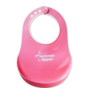 Tommee Tippee Essentials Pink Comfi Neck Catch All Bib