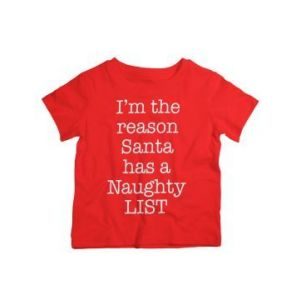Twinkle Hands Christmas Naughty List Tshirt