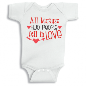 Twinkle Hands Two people fell in love Baby Onesie, Bodysuit, Romper