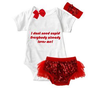 Cupid Valentine Onesie & Tutu Set Optional