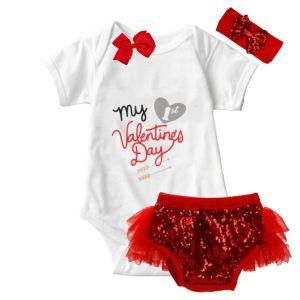 My 1st Valentine's Day Onesie & Tutu Set
