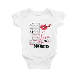 My 1st Love is Mommy Valentine Onesie & Tutu Set