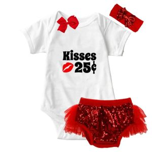 Valentine Kisses Onesie & Tutu Set