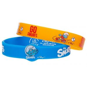 Smurfs Blue Silicone Bracelet 2pcs