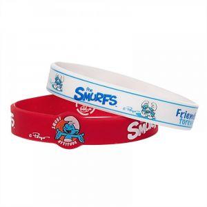 Smurfs Red Silicone Bracelet 2pcs