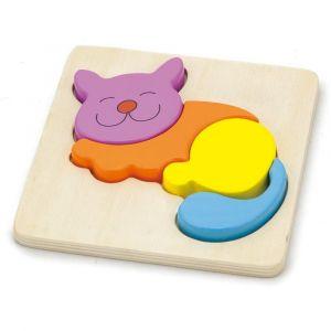 Viga Shape Block Puzzle - Cat
