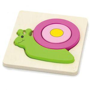Viga Shape Block Puzzle - Snail - Puzzle