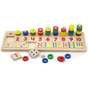Viga Wooden Count and Match Numbers
