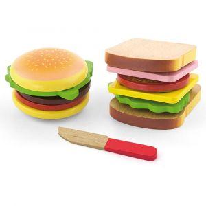 Viga Wooden Food - Hamburger and Sandwich