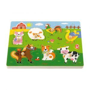 Viga Wooden Sound Puzzle - Farm Animals