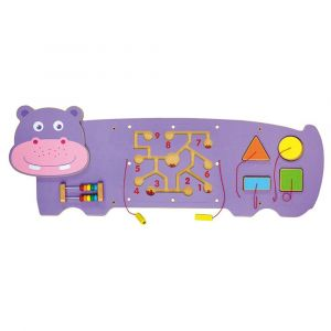 Viga Wooden Wall Toy - Hippo