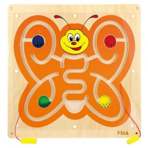 Viga Wooden Wall Toy - Magnetic Bead Trace