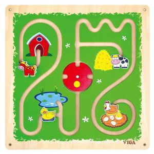Viga Wooden Wall Toy-Track and Trace