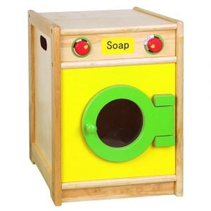Viga Yellow Wooden Washing Machine