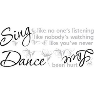 Room mates Dance,Sing, Love Wall Decal