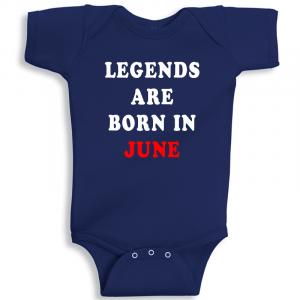 Twinkle Hands Legends Are Born In June Baby Onesie