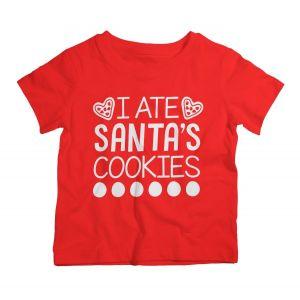 Twinkle Hands Christmas Santa's Cookies T-Shirt - 3 - 4y