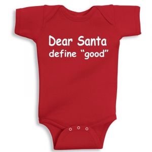 Twinkle Hands Christmas Santa Define Good Onesie