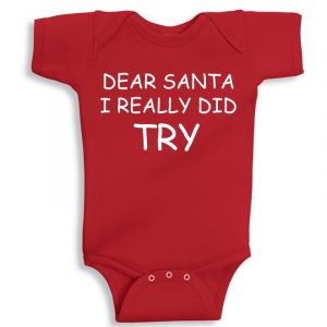Twinkle Hands Christmas I Really Did Try Baby Onesie