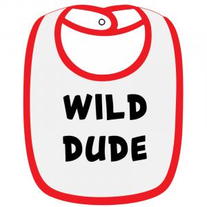 Twinkle Hands White/Red Wild Dude Baby Bib