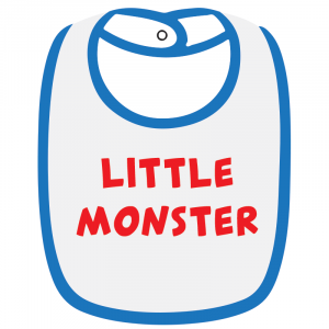 Twinkle Hands Little Monster Baby Bib