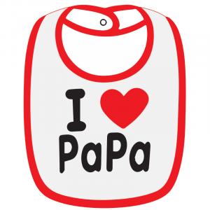Twinkle Hands I love Papa Baby Bib