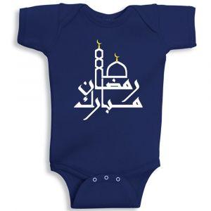 Twinkle Hands Blue Ramadan Mubarak Baby Onesie