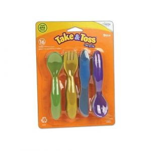 The First Years Take & Toss Toddler Flatware 16 pk