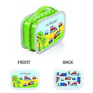 Yubo Cars & Trucks Green Lunch Box