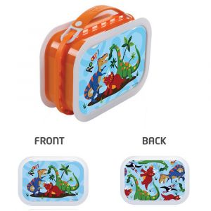 Yubo Dinosaur Orange Lunch Box