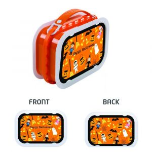 Yubo Happy Halloween Orange Lunch Box