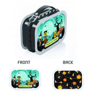 Yubo Trick or Treat Grey Lunch Box