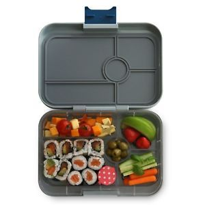 Yumbox Flat Iron Gray Tapas Lunch Box - 5 Compartments