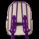 SoYoung Raw Linen Purple Dandelion Grade School Backpack