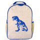 SoYoung Raw Linen Blue Dino Toddler Backpack
