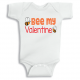 Twinkle Hands Bee my Valentine Baby Onesie, Bodysuit, Romper