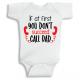 Twinkle Hands Call Dad Baby Onesie, Bodysuit, Romper