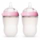 Comotomo - Natural Feel Baby Bottle 250ml 2pc - Pink