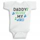 Twinkle Hands Daddy you rock my world Baby Onesie, Bodysuit, Romper