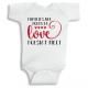 Twinkle Hands Family are forever love doesn't melt Baby Onesie, Bodysuit, Romper
