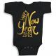 Twinkle Hands Happy New Year 2018, Black Baby Onesie, Bodysuit, Romper