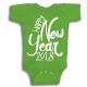 Twinkle Hands Happy New Year 2018, Green Baby Onesie, Bodysuit, Romper