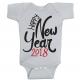 Twinkle Hands Happy New Year 2018, Grey Baby Onesie, Bodysuit, Romper