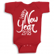 Twinkle Hands Happy New Year 2018, Red Baby Onesie, Bodysuit, Romper