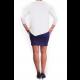Mama Basic - Double Layer Maternity & Nursing Dress - Cream And Navy